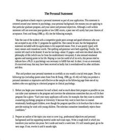 Self Statement Essay by 29 Exles Of Personal Statements