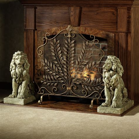 decorative fireplace screen on custom fireplace quality