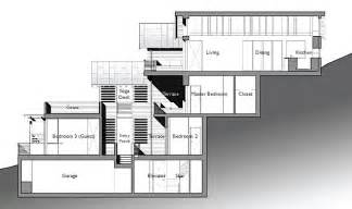 hillside floor plans amazing leed home with a vertical design
