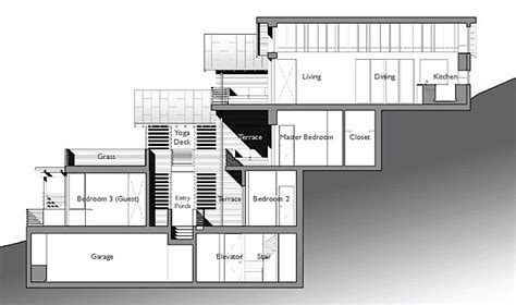 hillside floor plans amazing leed home with a very vertical design