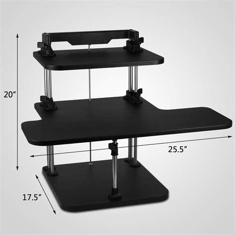 ergonomic laptop desk portable workstation 3 tier adjustable computer standing desk portable stand up