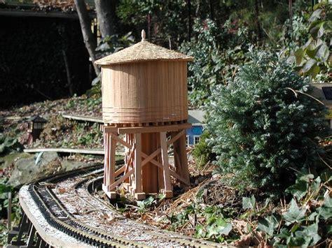 backyard water tower garden railway water tower project