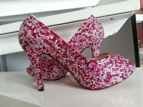 fuschia flat wedding shoes crytals wedding shoes rhinestone wedding heels open