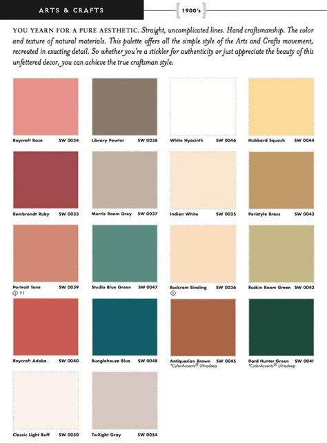 color schemes all 2 color schemes are based off these 15 sherwin williams arts crafts historic colors interior