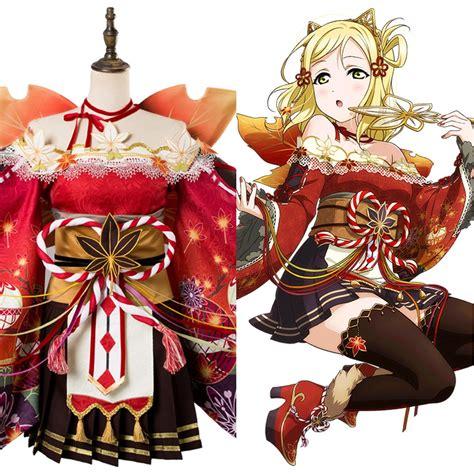 Wig Ohara Mari Aqours Ruler mari ohara live lovelive aqours maple leafs ver costume suit kimono skycostume