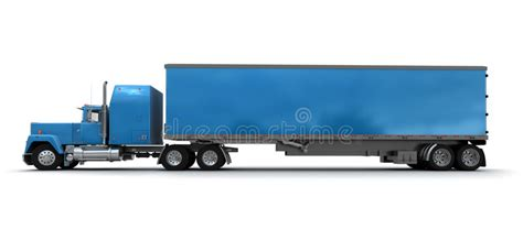 blue trailer semi truck drawing side view www pixshark images