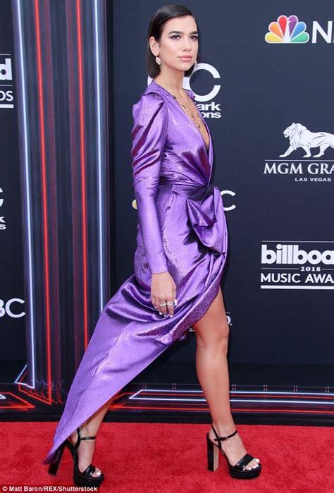 dua lipa robe dua lipa proves she s no shrinking violet in plunging