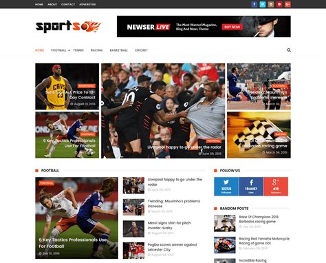 Blogger Templates Free Full Version | sports mag blogger template full version premium themexpose
