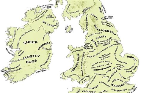buzzfeed uk map the definitive stereotype map of britain and ireland