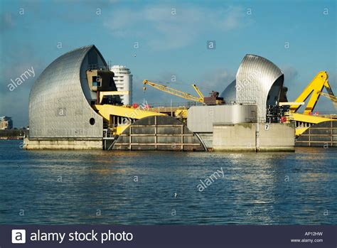 thames defence barrier river thames barrier flood defence woolwich london england