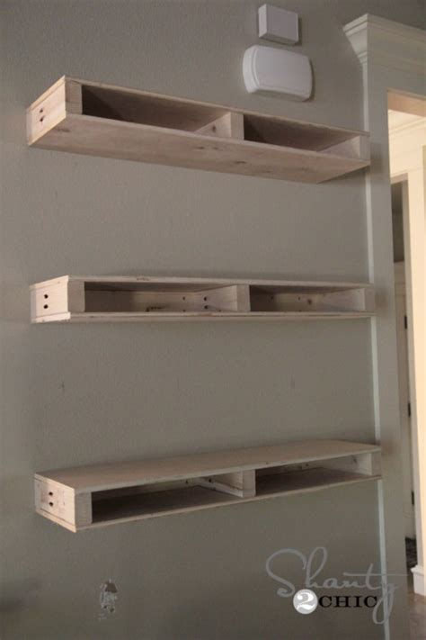 How To Build A Floating Shelf On A Wall by Diy Floating Shelves