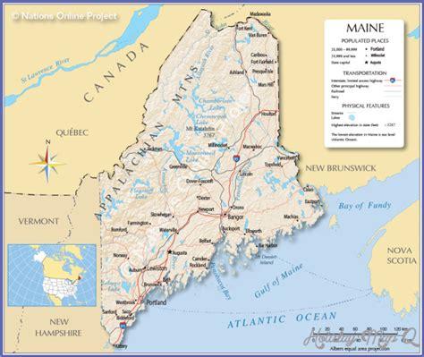 maine state usa map maine usa time zone map holidaymapq