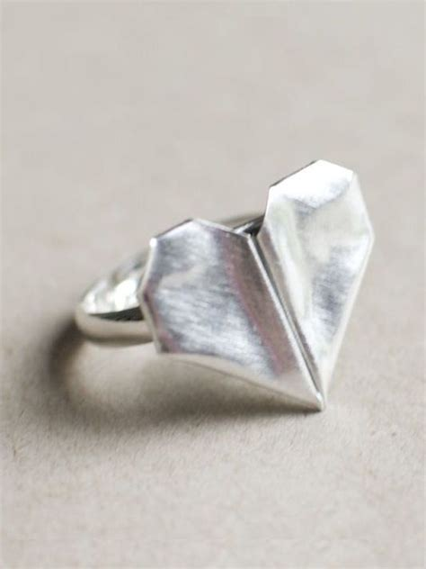 Origami Rings - folded origami ring just jewelry