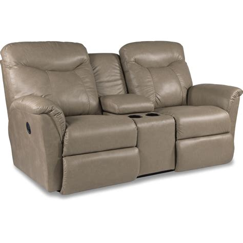reclining loveseat w console fortune la z time 174 full reclining loveseat w console