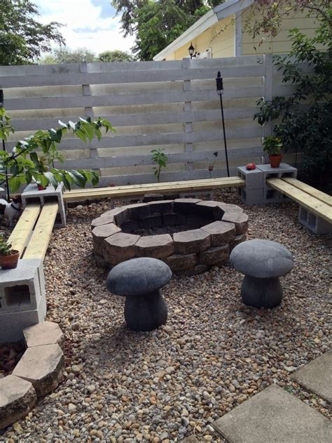 fire pit bench seating easy to make a bench around firepit all you need is 24