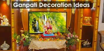 Decoration Of Home eco friendly ganpati decoration at home photos www