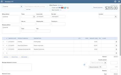 Import Invoices Into Quickbooks Invoice Template Ideas Import Invoice Template To Quickbooks