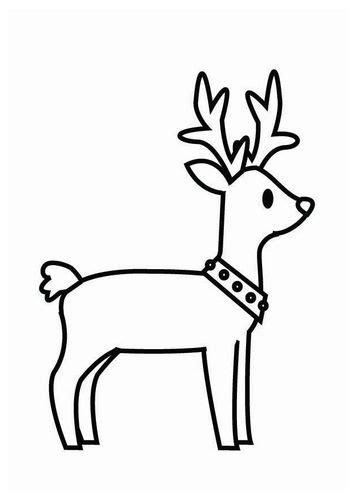 dibujo  colorear reno de navidad imagenes