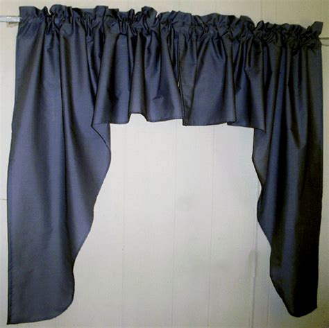 navy blue valance curtains navy blue swag window valance set
