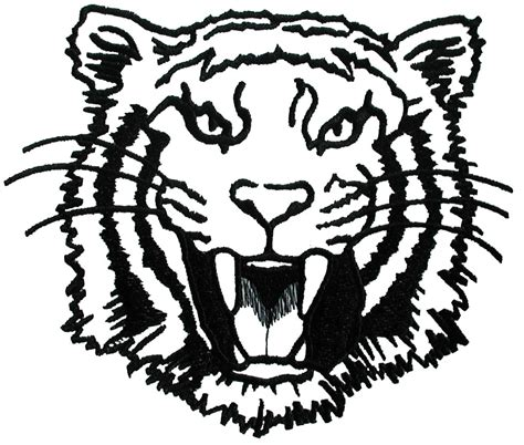tiger face outline clipart best