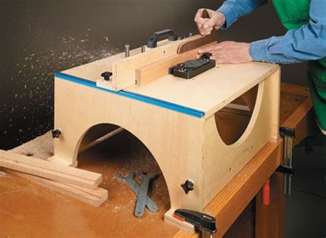 folding router table from woodsmith plans transforms from a briefcase sized package into a full