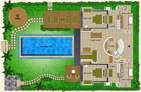 Layout Design Villa | foundation dezin decor villa bungalow floor layout