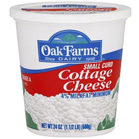 small curd cottage cheese oak farms 4 milkfat small curd cottage cheese 24 oz