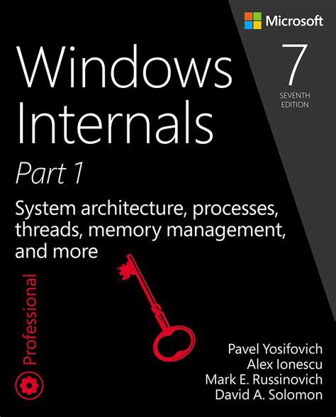 Pdf Windows Internals Part Developer Reference by Windows Internals Part 1 System Architecture Processes
