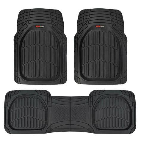 flextough shell rubber floor mats black heavy duty deep channels  car pc set ebay