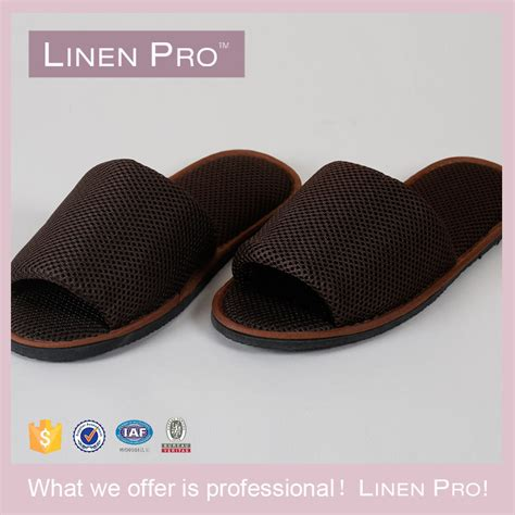 open toe bedroom slippers linenpro open toe indoor slippers bedroom slippers