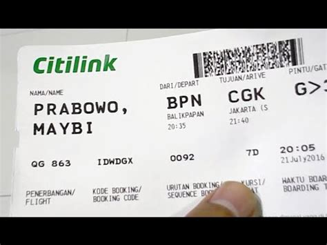citilink boarding pass citilink qg 863 a320 200 balikpapan jakarta night flight