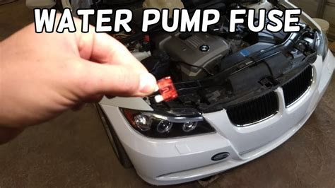 coolant water pump fuse location  replacement bmw