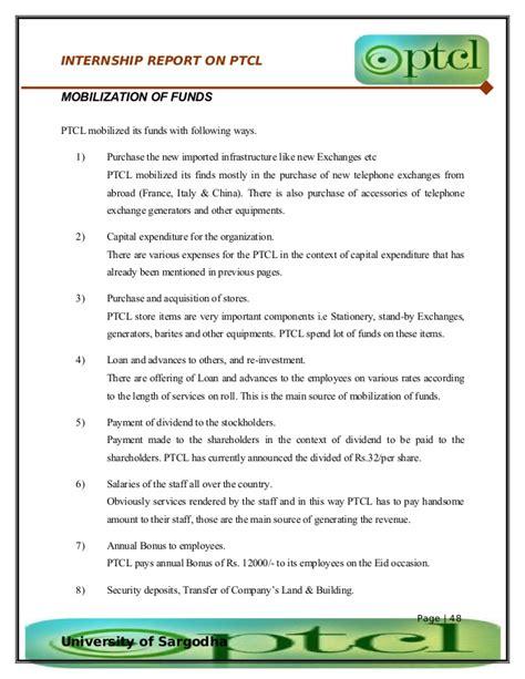 Mba Internships Sargodha by 53007224 50262292 37848431 Internship Report On Ptcl
