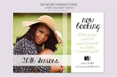 Senior Photography Postcard Template Flyer Templates On Creative Market Senior Ad Templates
