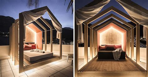 cabana style bedroom the rooftop bedroom at this hotel lets you lie in comfort