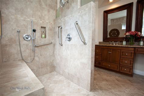 wheelchair accessible bathroom design wheelchair accessible bathroom by one week bath dream