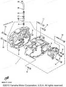 yamaha atv parts 1996 timberwolf yfb250h crankcase diagram