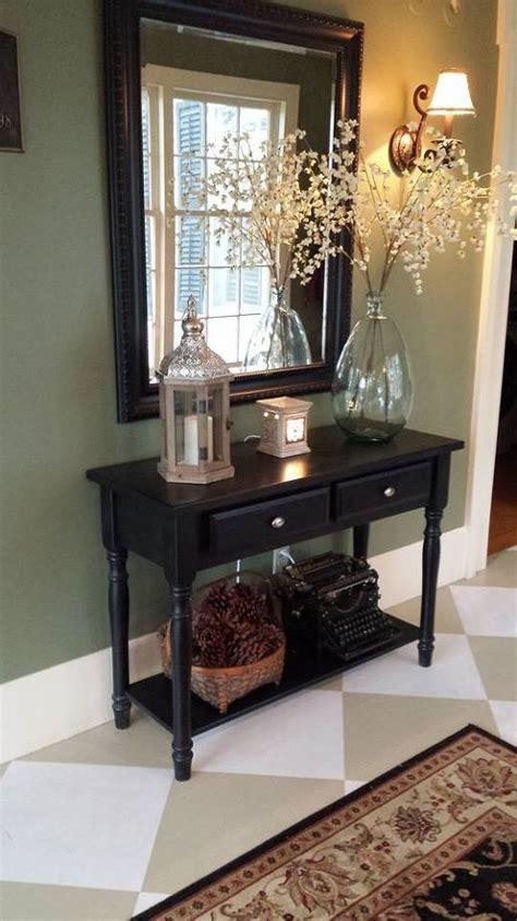foyer table decor ideas 4 39 foyer painted floor makeover hometalk