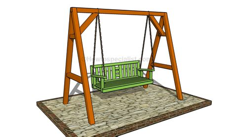 wooden a frame for swing how to build a porch swing howtospecialist how to
