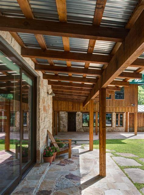 aluminum metal porch roof patio modern with brick damp wet