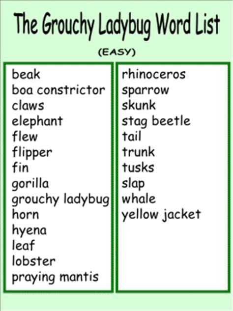 list of themes in children s stories vocabulary word list worksheets