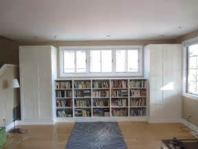 Living Room Bookshelves Living Room Built In Bookshelves And Closets Using Besta