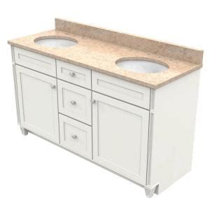Kraftmaid Vanity Tops by Kraftmaid 60 In Vanity In Dove White With Quartz