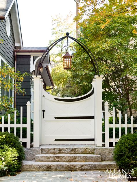 Garden Arbor With Gate White Gardens Outdoor Rooms 3 56 The Inspired Room