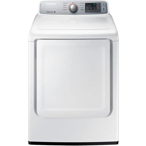 samsung dryer samsung 7 4 cu ft electric dryer in white dv45h7000ew the home depot