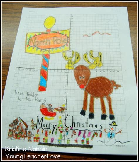 christmas cordation math centers and coordinate graph mystery pictures