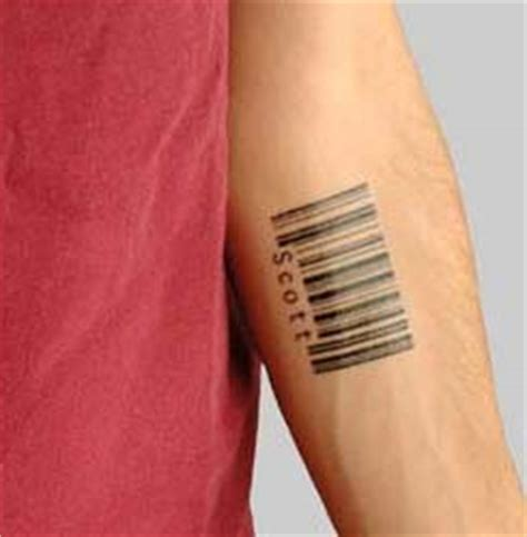 barcode tattoo that scans new barcode tattoo on forearm for guys tattooshunt com