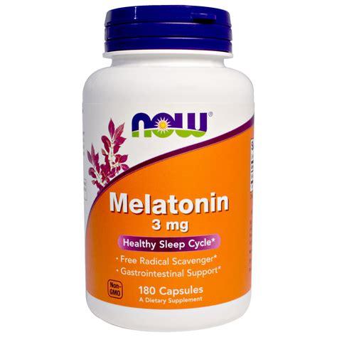 best brand melatonin now foods melatonin 3 mg 180 capsules iherb