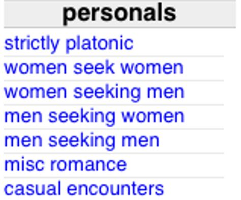 Craigslist phoenix classifieds personals