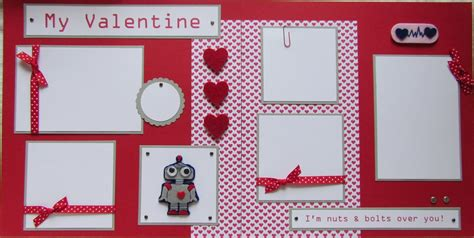 Valentines Scrapbooking Idea by My Boy 12x12 Premade Scrapbook Pages Valentines Day